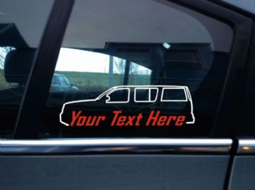 2x Custom YOUR TEXT car sticker - for  Nissan Pathfinder R51, 2005–2014